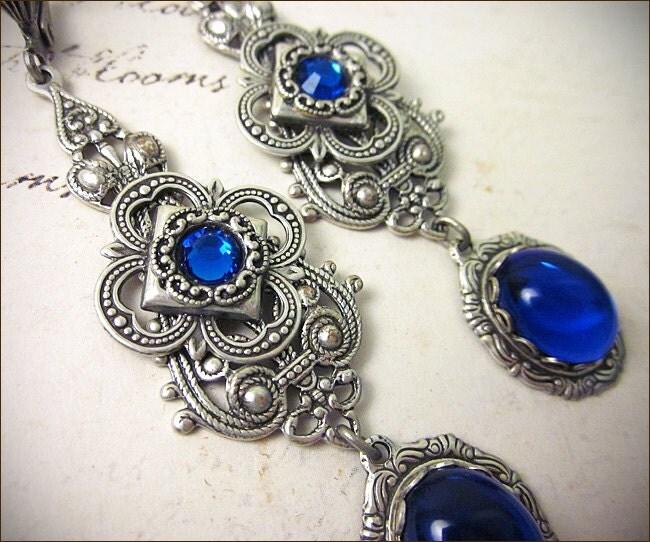 Sapphire jewel renaissance earrings blue earrings borgias for Sapphire studios jewelry reviews