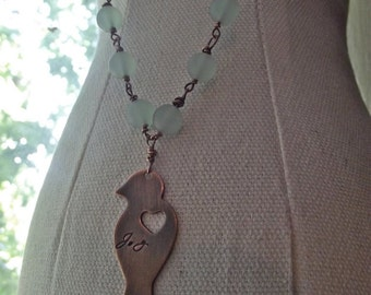 Joy Pendant, bird pendant, Ready to ship