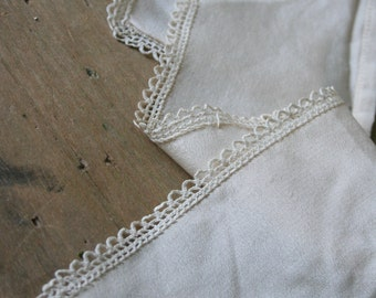 Vintage Silk COLLAR Piece with Lace - for repuposing
