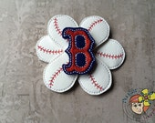 Boston Red Sox 3D Baseball Flower  - Photo Prop