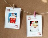 Mini Santa Vintage Flashcards - Set of 25
