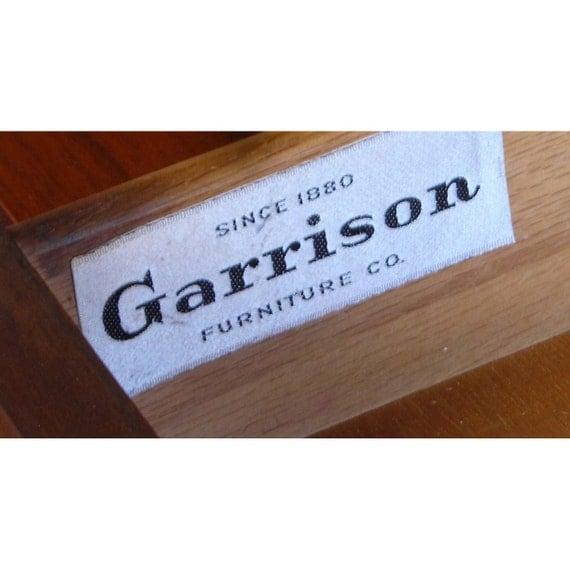 Walnut China Hutch Garrison Furniture Co Vintage American Danish Modern