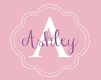 Monogram stickers, Girls wall decals, Personalized wall decals, Name decals, Nursery decor, Personalized baby gifts, Wall stickers DB200
