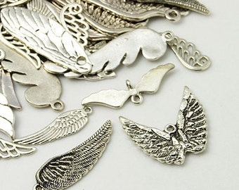 The Ultimate Angel Wings Charm Mix - Set of 65 - #WG116