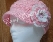 PDF CROCHET PATTERN Newsboy hat in Adult-Teen, PreTeen, Toddler sizes Digital