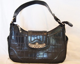 MC Marc Chantel  Bag Handbag  Black Leather with lots of Room  Nice and Practical Practical and Now on SaLe