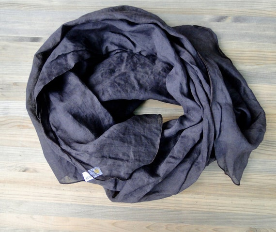 Organic cotton organza scarf shawl wrap in brown