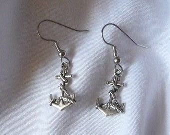 Nautical Anchor Earrings Quite Detailed