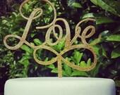 Love Infinity Wedding Cake Topper