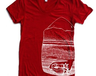 Womens FOXHOLE american apparel T Shirt S M L XL (16 Colors Available)