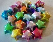 20 Iridescent Color Change Origami Lucky Stars - Rainbow Wishing Stars - Confetti, Table Decor, Home Decor