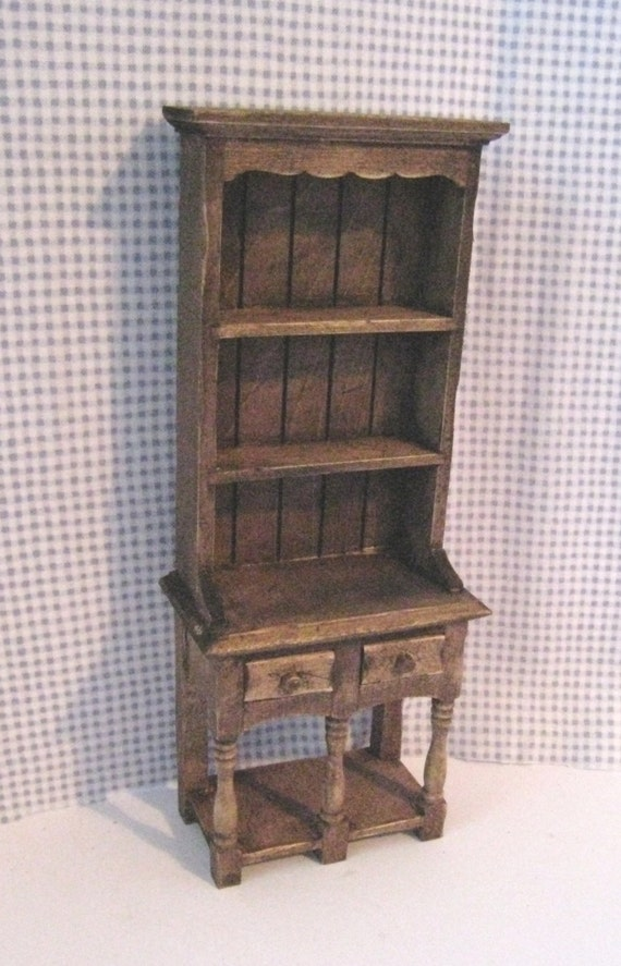 Kitchen, Hutch , Dresser, country style, twelfth scale, dollhouse  miniature