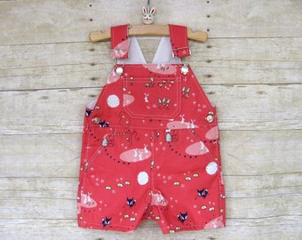 CLEARANCE SALE - Shortall in Pink Fox and Bunny