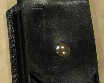 Leather cellphone Case for iphone in Otterbox Black