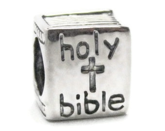 Holy Bible Charm Bracelet Bead - 925 Sterling Silver