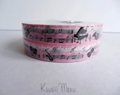 Kawaii Deco Tape - Orchestra Pink - 1 pc / 1.5cm wide x 25m (0.7in x 27 yards)