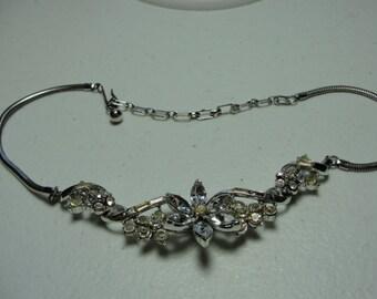 Adolph Katz coro clear goldtone necklace