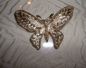 "Vintage Sarah Coventry Butterfly 2 1/2"" Brooch Pin"