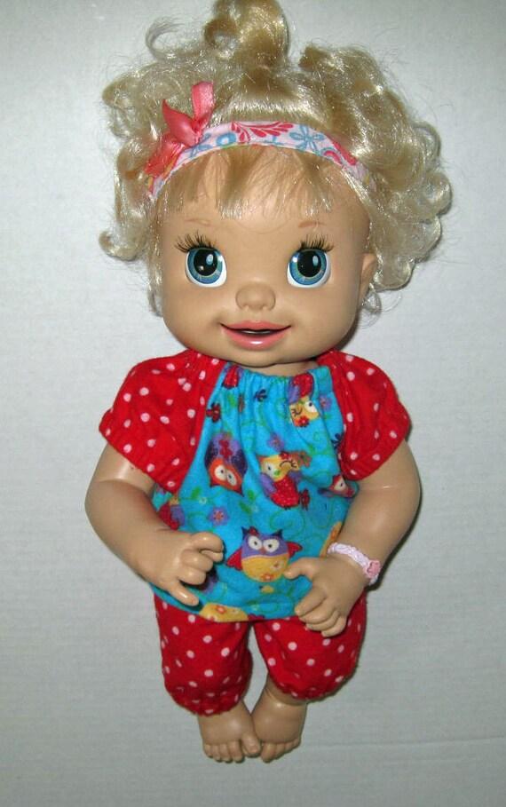 Snakin Sara Baby Alive Doll Clothes Owl Pajama by