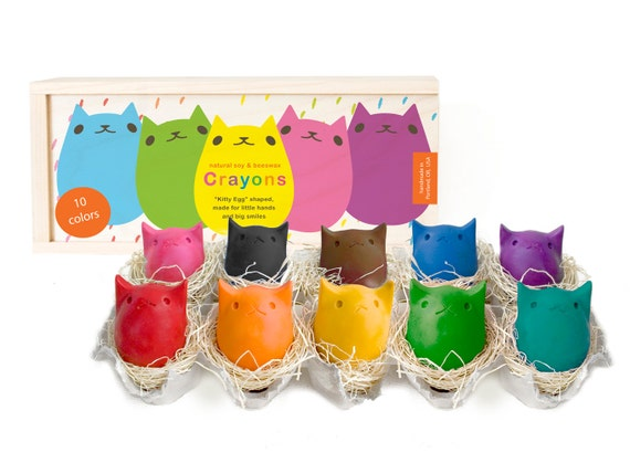 Babys First Colors - 10 Beeswax Crayons - NEW Packaging!