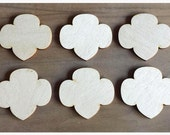 12 Pieces- Craft Wood Shapes Girl Scout Trefoils