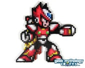 Mega Man X  Zero Perler Bead Sprite Video Game Pixel Art Decoration