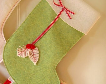 Christmas Stockings White Pine Leaves