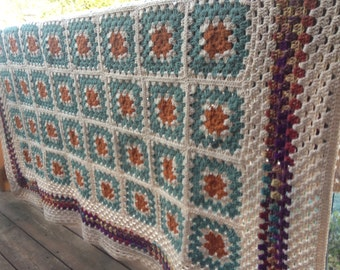 Desert Autumn Crochet Afghan FREE SHIPPING Heirloom Quality
