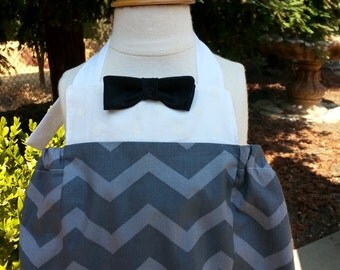 Ready to ship! Size 3-6 months Romper with Bow Tie for Baby Boys - first birthday, wedding baby, baby tuxedo