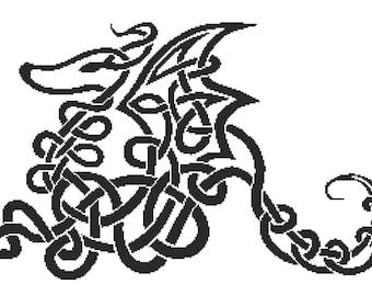 Cross Stitch Kit, Dragon Knot ,Trevor Smith Art, Counted Cross Stitch, Dragon Cross Stitch, Celtic Knot Dragon
