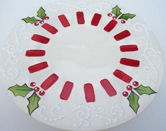 Cake Stand  Christmas Holiday- Ready to Ship