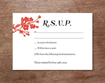 printable rsvp template gongxi. Black Bedroom Furniture Sets. Home Design Ideas