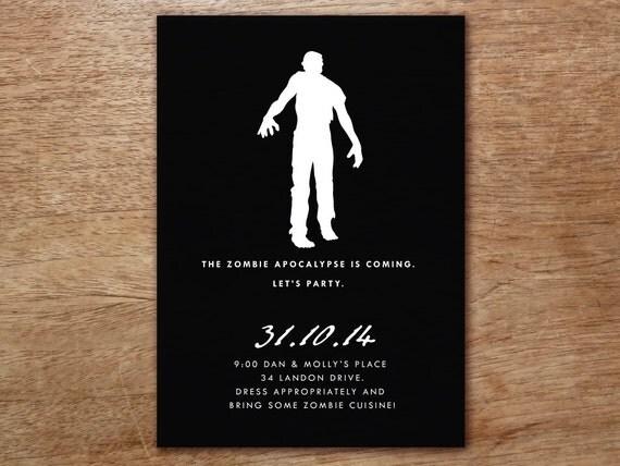 Printable Zombie Party Invitation