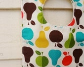 Baby Bib: Apple and Pear Print SALE
