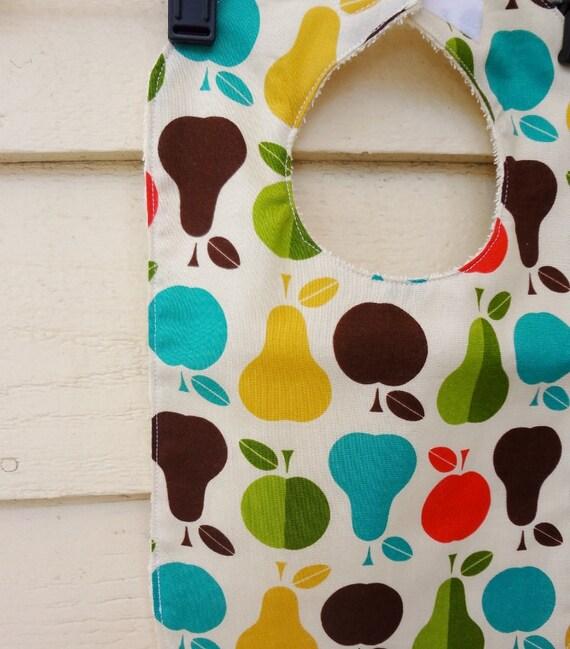 Baby Bib: Apple and Pear Print SALE