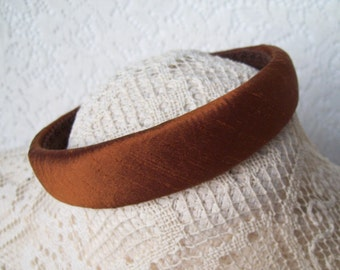 silk rust hairband