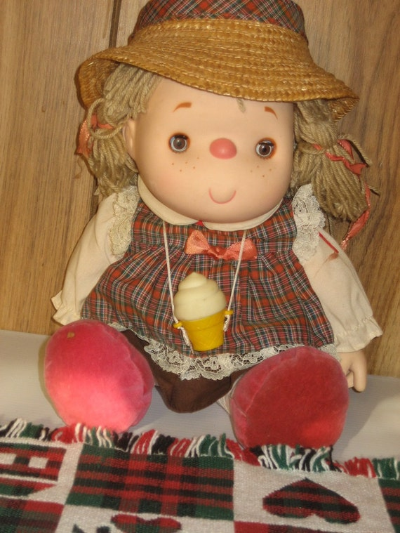 Chubby Baby Doll With Ice Cream Cone Necklace