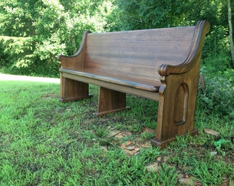 """72"""" Reclaimed Mahogany Pew -  Reclaimed from the prestigious Darlington School in Rome, GA. (Available while supply lasts)"""