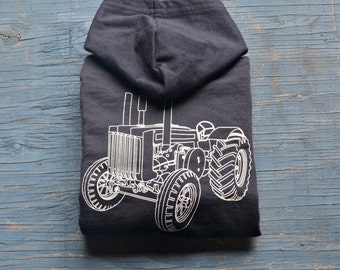 Children - Clothing - Boy - Tractor Zip Hoodie - Kids Hoodie - Toddler Sizes 2,4,6 - Navy Kids Hoodie - Gift for Boy - Cool Kids Clothes