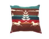 S A L E handmade winter wonderland woolen pillow
