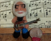 Jerry Garcia Miniature Grateful Dead Thread Artist Crochet Doll  Ready to Ship