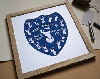 Personalised Stag Party Print