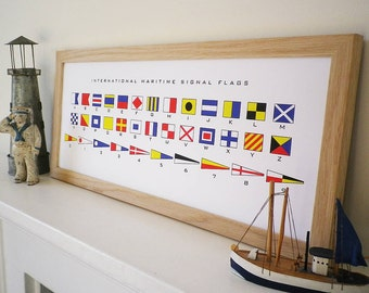 Maritime Signal Flags Alphabet Print