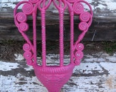 Gazebo Wall Pocket ON SALE NOW!!!! Vintage Berry Pink Shabby Chic Rustic Wedding Prop Wicker Loook