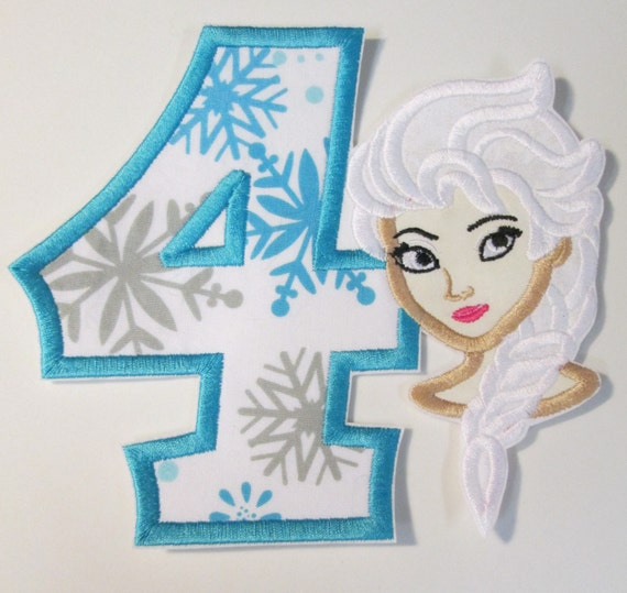 Iron On Applique -  Character Birthday Appliques