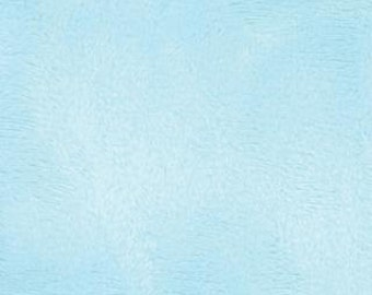 SPRING SALE - Snuggles in Aqua - 1 Yard - Smooth Minky from Moda Fabrics - SKU 60000 43