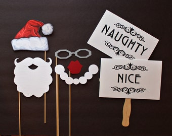 Little Retreats Photo booth Holiday Props. Holiday PhotoBooth Props. Photo Props. Santa Claus