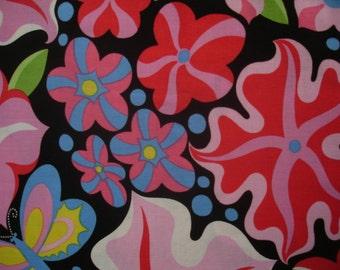 FABRIC Jane Sassaman Wild Child - Passionate Petunias 1 Yard Free Spirit/Westminster Fabrics - #F15