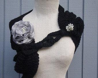 Black shawl, wedding accesories, bridal accesories, wedding shawl, bridal shawl, weddings shawl, bridesmaid, handmade shawl, accessories