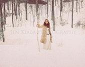 Wayfaring - Snowy Fantasy Woodland Fine Art Photography Print - Jenkiabaphotography